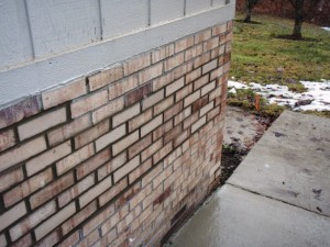 Replaced bricks in panel brick repair